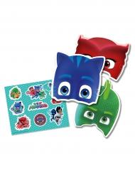 Lot 6 masques et stickers Pyjamasques ™ enfants