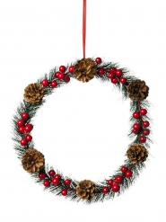 Couronne traditionnelle Noël 30 cm