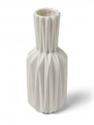 Vase origami résine blanc 19 cm