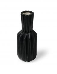 Vase origami résine noir mat 8 x 19 cm