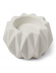 Bougeoir origami résine blanc 9 x 6 cm