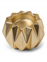 Bougeoir origami résine or mat 9 x 6 cm