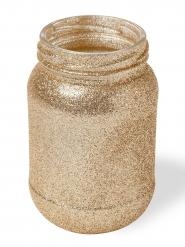 Pot à paillettes dorées 11 x 7 cm