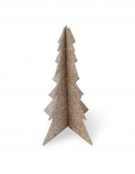 Sapin polystyrène paillettes cuivre 19 x 12 cm