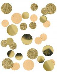 Confettis en papier kraft et paillettes dorées 30 gr