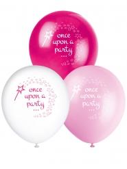 8 Ballons latex princesse et licorne 30 cm