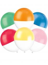 6 Ballons en latex couleurs 76 cm