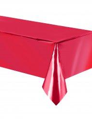 Nappe en plastique rouge métallisé 137 x 274 cm