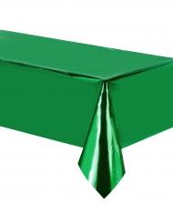 Nappe en plastique vert métallisé 137 x 274 cm