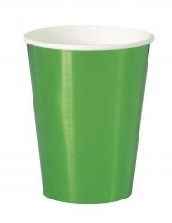 8 Gobelets en carton vert métallisé 25 cl