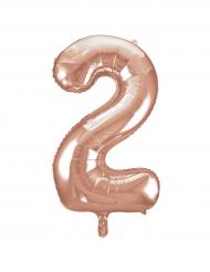 Ballon aluminium rose gold chiffre 2 86,3 cm