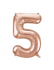 Ballon aluminium rose gold chiffre 5 86,3 cm