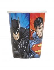 8 Gobelets en carton Justice League ™ 25 cl