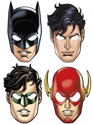 8 Masques en carton Justice League ™