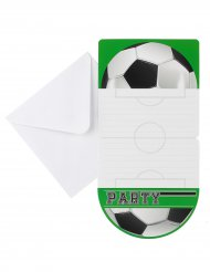 6 Invitations Foot party 10 x 20 cm