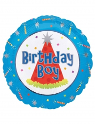 Ballon aluminium Birthday boy 45 cm