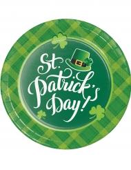 8 Assiettes en carton St Patrick's Day 22 cm