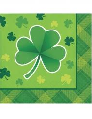16 Petites Serviettes en papier St Patrick 25 x 25 cm