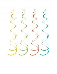 10 Décorations à suspendre multicolores Fiesta 102 cm