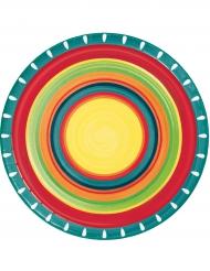 8 Assiettes en carton Mexicaines 22 cm