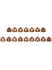 Guirlande anniversaire émoticône caca 14 cm x 1,7 m