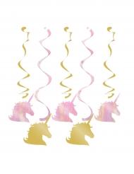 5 Décorations à suspendre licorne 99 cm
