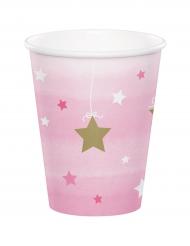 8 Gobelets rose One Little Star 256 ml