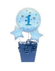 3 Pics centre de table garçon bleu One Little Star