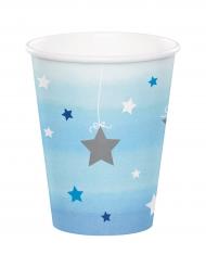 8 Gobelets bleus One Little Star 256 ml