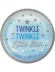 8 Petites assiettes en carton Twinkle One Little Star 18 cm