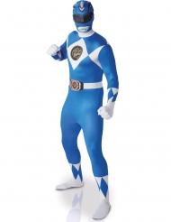 Déguisement adulte 2nde peau Power rangers ™ Bleu