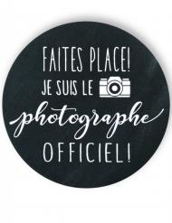 Badge épingle photographe officiel 56 mm
