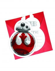 6 cartes d'invitation + enveloppes Star wars 8 The Last Jedi ™