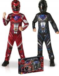 Pack déguisements Power Rangers™ rouge et noir enfant