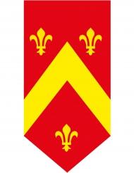 Bannière verticale Médiévale rouge 25 x 50 cm