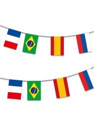 Guirlande plastique 32 Pays Coupe du Monde 13 m
