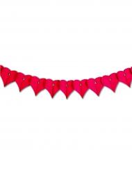 Guirlande papier rouge ignifugé Saint-Valentin 4,5 m