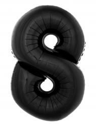 Ballon aluminium chiffre 8 noir 40 cm