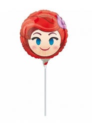 Ballon aluminium sur tige rond Ariel ™ Emoji ™ 23 cm