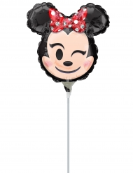 Petit ballon aluminium Minnie Mouse ™ Emoji ™ 22 cm