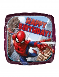 Ballon aluminium carré Spider-man ™ Happy Birthday  43 cm