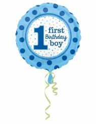 Ballon aluminium First Birthday Boy 43 cm