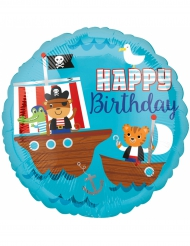 Ballon aluminium Happy Birthday Pirate 43 cm