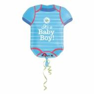 Ballon aluminium bleu It's a baby boy 55 x 60 cm