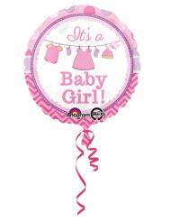 Ballon aluminium rose It's a baby girl 43 cm