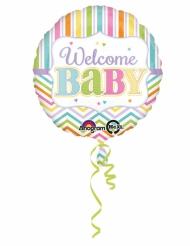 Ballon aluminium couleurs pastels Welcome Baby 43 cm