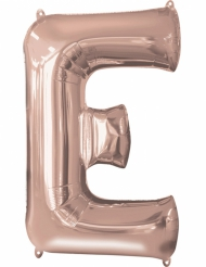 Ballon aluminium Lettre E rose gold 53 x 81 cm