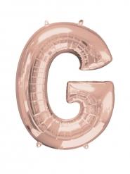 Ballon aluminium Lettre G rose gold 63 x 81 cm