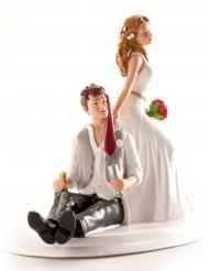 Figurine mariés humoristique 14 cm