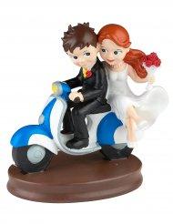 Figurine mariés scooter 15 cm